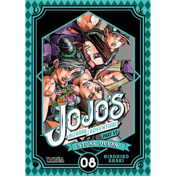 Jojo's Bizarre Adventure Stone Ocean #08 Manga Oficial Ivrea (Spanish)