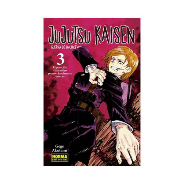 Jujutsu Kaisen #03 Manga Oficial Norma Editorial (spanish)