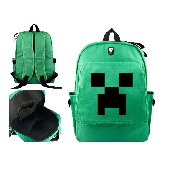 Mochila Creeper Minecraft
