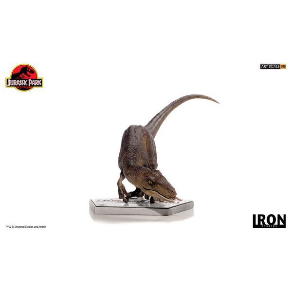 Estatua Crouching Velociraptor Parque Jurasico Art Scale