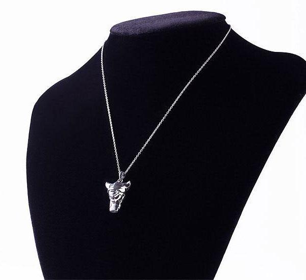 Collar con Colgante The Unmovable Sovereign White Whistle Made in Abyss Plata de ley