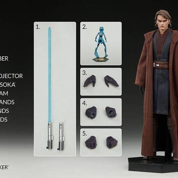 Figura Anakin Skywalker Star Wars The Clone Wars Sideshow Collectibles