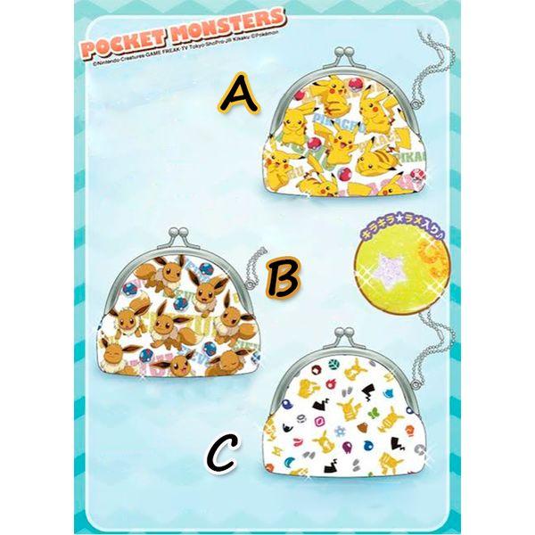 Wallet Pokemon - Pikachu & Eevee circle