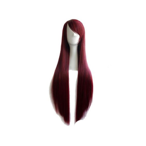 Peluca Roja Oscuro 80 cms