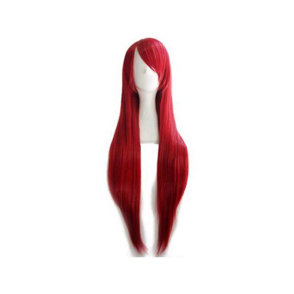 Peluca Rojo Vino 80 cms