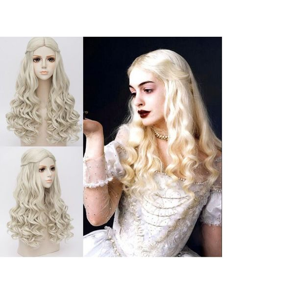 Peluca The White Queen Alice in Wonderland