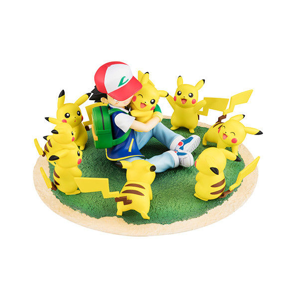 Figura Ash y Pikachu Ga Ippai Ver. Pokemon G.E.M.