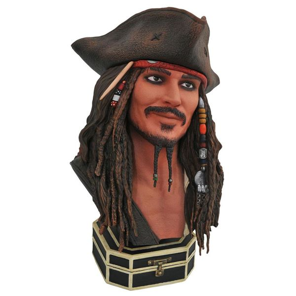 Jack Sparrow Bust Pirates of the Caribbean Legends in 3D