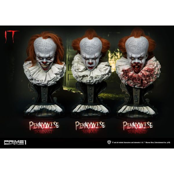 Pennywise Dominant, Serious & Surprised Stephen King's It 2017 Set