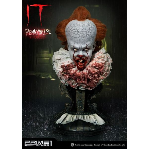Busto Pennywise Surprised Stephen King's It 2017