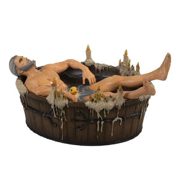 Geralt in the Bath Statue The Witcher 3 Wild Hunt
