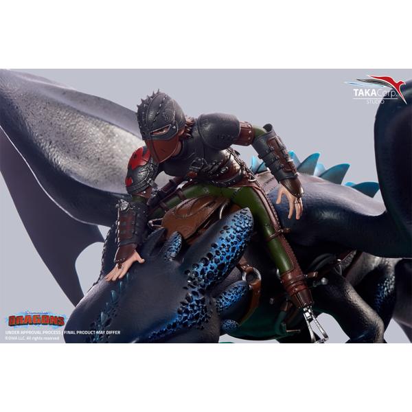 Estatua Hipo y Desdentao Como entrenar a tu Dragon