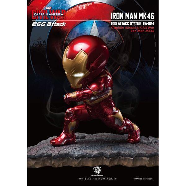 Estatua Iron Man Mark XLVI Civil War Marvel Egg Attack