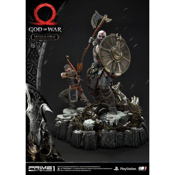 Estatua Kratos & Atreus God of War