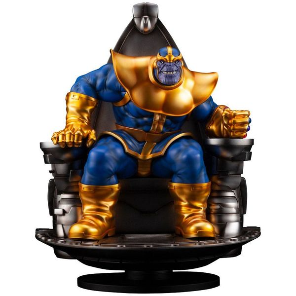 Estatua Thanos on Space Throne Marvel Fine Art