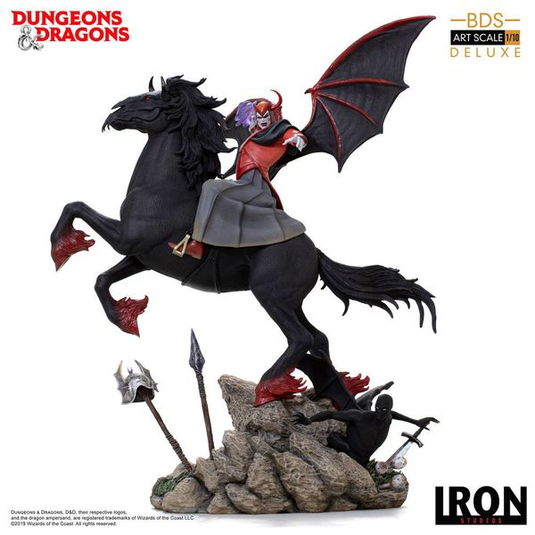 Estatua Venger with Nightmare & Shadow Demon Dungeons & Dragons Deluxe BDS Art Scale