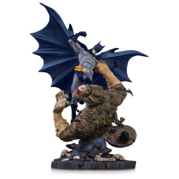 Estatua Batman vs Killer Croc DC Comics Mini Battle