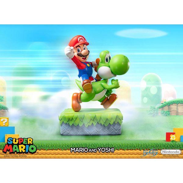 Mario & Yoshi Statue Super Mario
