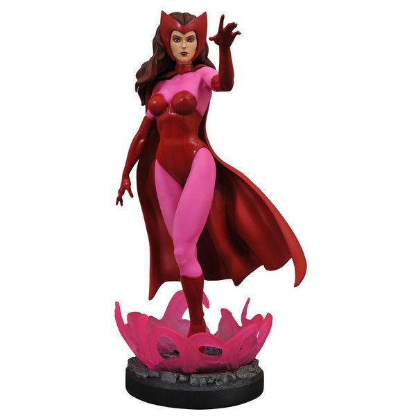 Estatua Scarlet Witch Marvel Comic Premier Collection