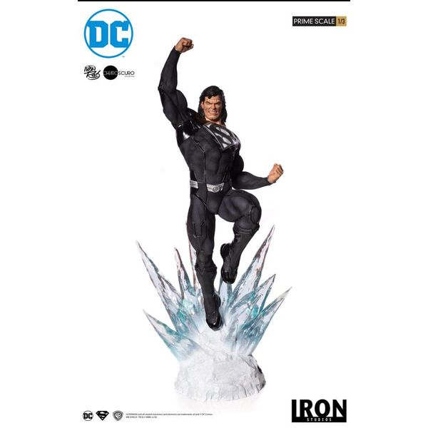 Superman Black Suit Statue DC Comics Legacy Prime