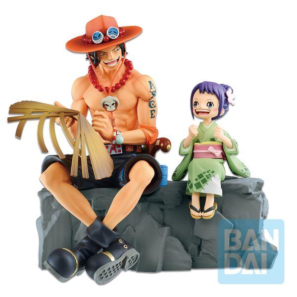 Figura Ace & Otama Emorial Vignette One Piece Wano Kuni Second Act Ichibansho