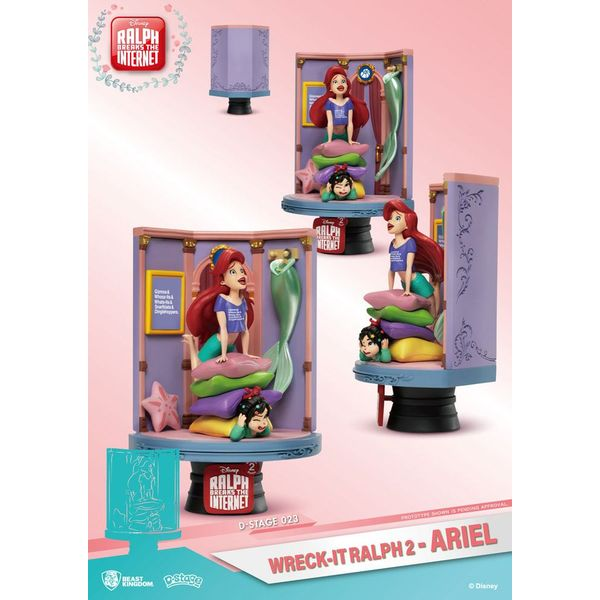Figura Ariel & Vanellope Ralph Rompe Internet D-Stage