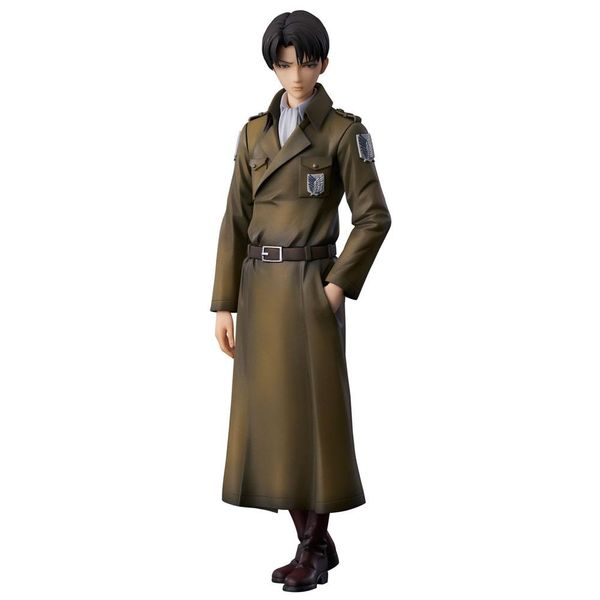 Figura Levi Coat Style Ataque a los Titanes