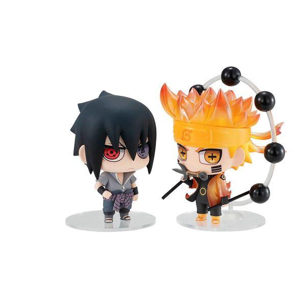 Naruto Uzumaki & Sasuke Uchiha Figure Naruto Shippuden Chimimega Buddy Series