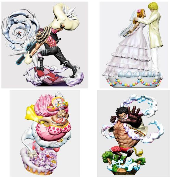 One Piece Log Box Re Birth Whole Cake Island Figure Set