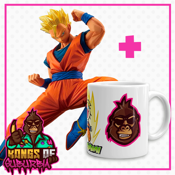 Pack Figure Son Gohan SSJ Dragon Ball Super Chosenshiretsuden + Mug Kongs of Suburbia