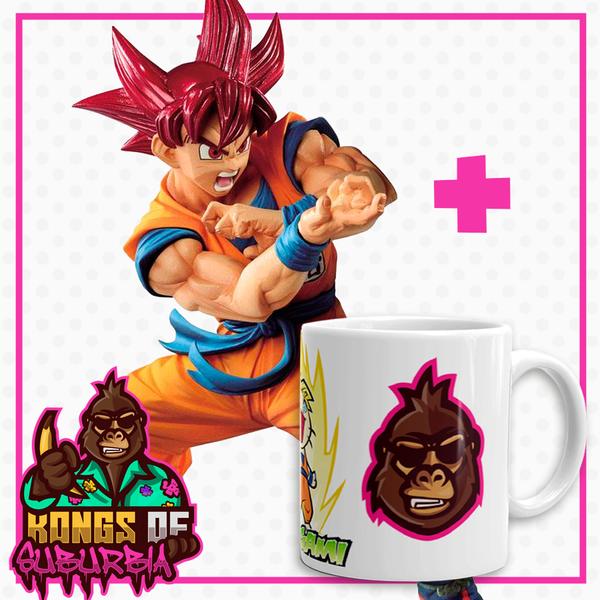 Figura Son Goku SSG Dragon Ball Super Blood of Saiyans + Taza Kongs of Suburbia