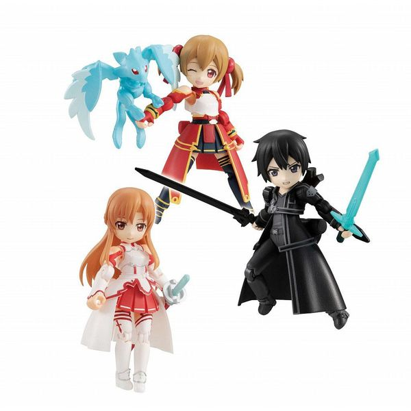 Figura Asuna & Kirito & Shirika Sword Art Online Desktop Army Set
