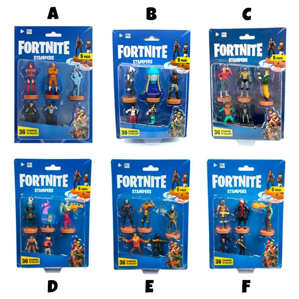 Figuras Stampers Fortnite Set 5
