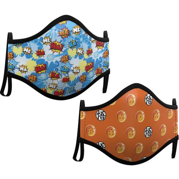 Mascarilla Dragon Ball  Pack de 2 máscaras de tela