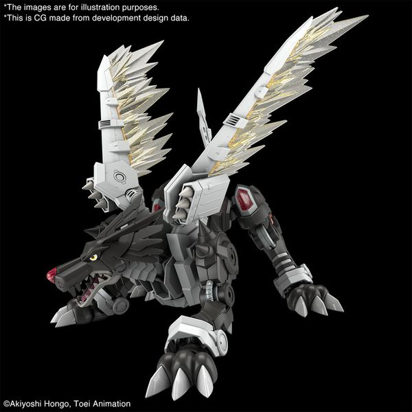 Model Kit Black MetalGarurumon Digimon Adventure Figure Rise Amplified
