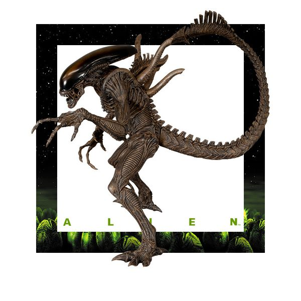 Alien Warrior Brown Figure Alien Resurection