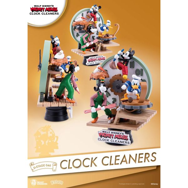 Mickey Mouse Clock Cleaners Figure Disney D-Stage