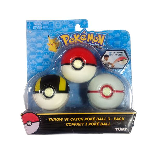 Set Bola Pokemon - Pokeball, Ultra Ball y Honor Ball