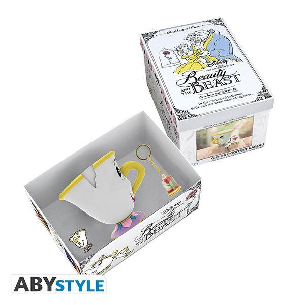 Pack Regalo Premium Taza 3D+ Llavero+ Pin La Bella y la Bestia Disney