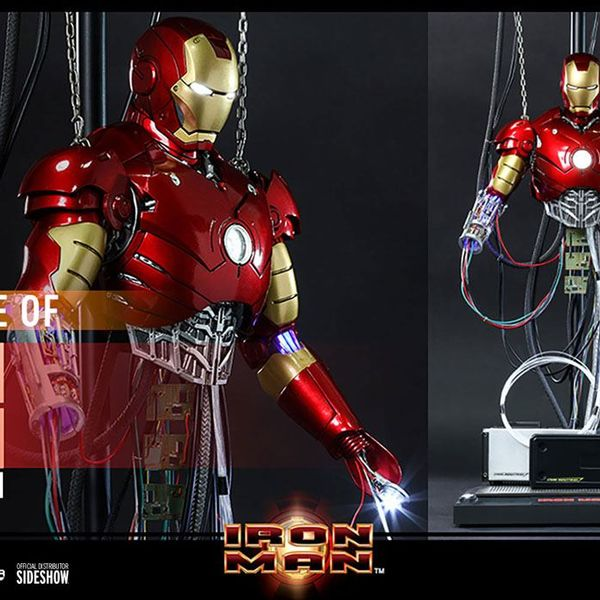 Figura Iron Man Mark III Construction Version Marvel Comics Movie Masterpiece Hot Toys