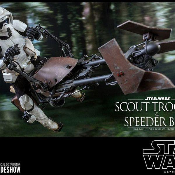 Figura Scout Trooper & Speeder Bike Star Wars Hot Toys