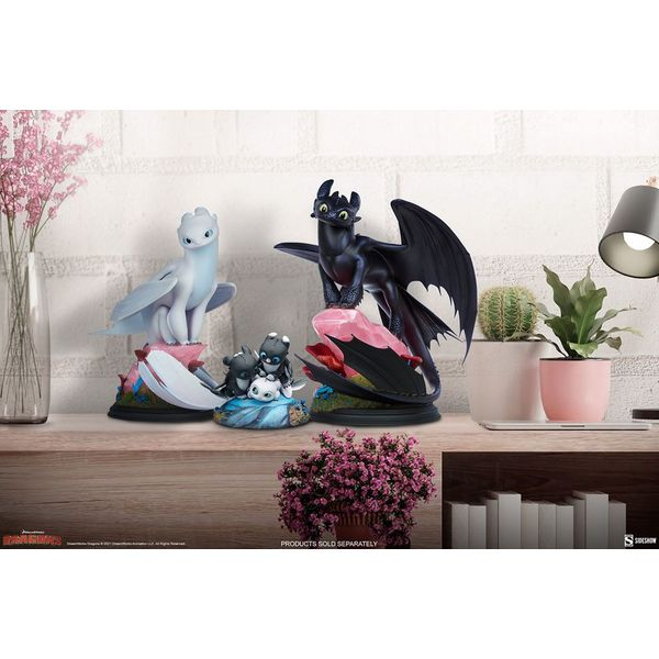 Dart Pouncer and Ruffrunner Statue How to Train Your Dragon 3