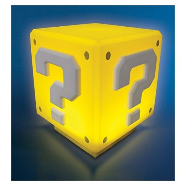 Lámpara con Sonido Question Block Super Mario Bros.