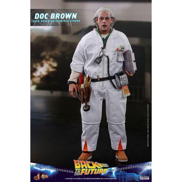 Figura Doc Brown Regreso al Futuro Movie Masterpiece Hot Toys