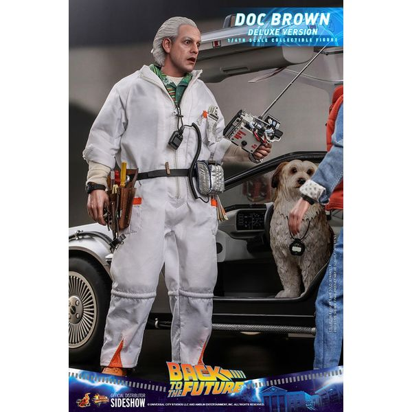 Figura Doc Brown Regreso al Futuro Deluxe Version Movie Masterpiece Hot Toys