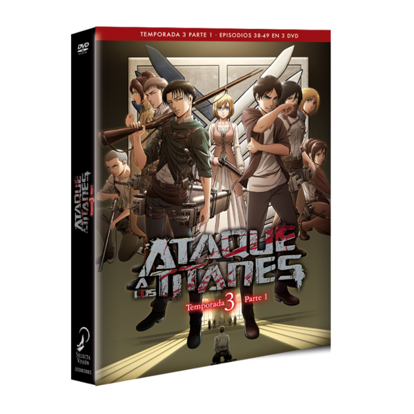 Ataque A Los Titanes DVD Season 3 Part 1