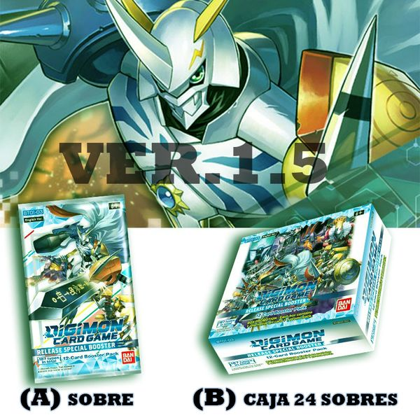 TCG DIGIMON CARD GAME Release Special Booster Ver 1.5 English