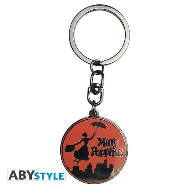 Silhouette Mary Poppins Keychain Disney