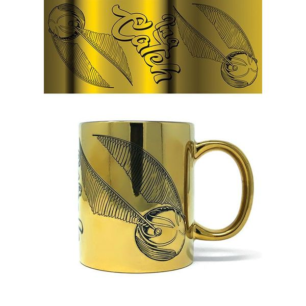 Taza Metallic Snitch Harry Potter