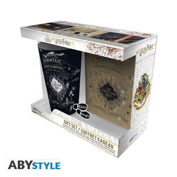 Pack Regalo Vaso + Pin+ Libreta Mapa del Merodeador Harry Potter